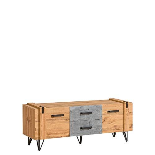 Mueble de TV Lofter 135 cm, estilo industrial