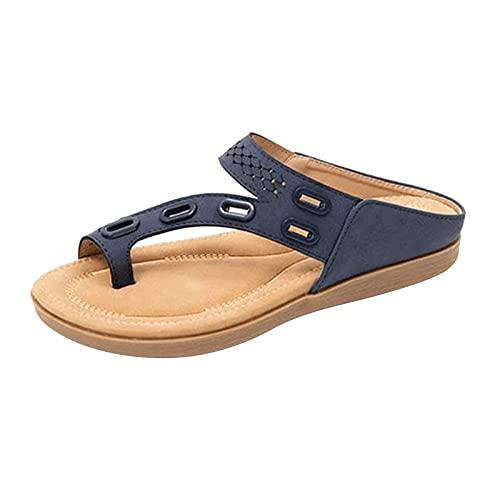 Sandalias de Mujer, Separador de Punta de Punta Big Toe Hallux Valgus, férulas de Bunion Sandalias de Verano Plataforma Plana Plataforma de Soporte Zapatos para Tratamiento Sandalias de Playa