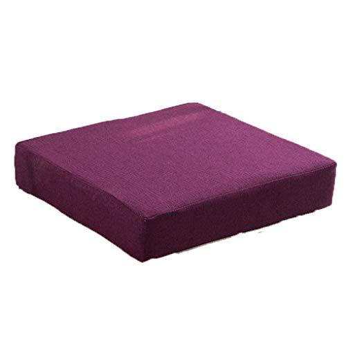 Cojines acolchados, Cojines for silla Cojines Cómodos Relleno de Fibra Fácil de Limpiar 40x40 cm for Interior y Exterior Cómodo e Impermeable ( Color : Lt purple , Size : 40x40x5cm(15.7' x 15.7') )