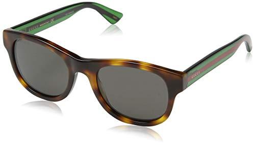 Gucci GG0003S 003 Occhiali da Sole, Marrone (Avana/Grey), 52 Unisex-Adulto