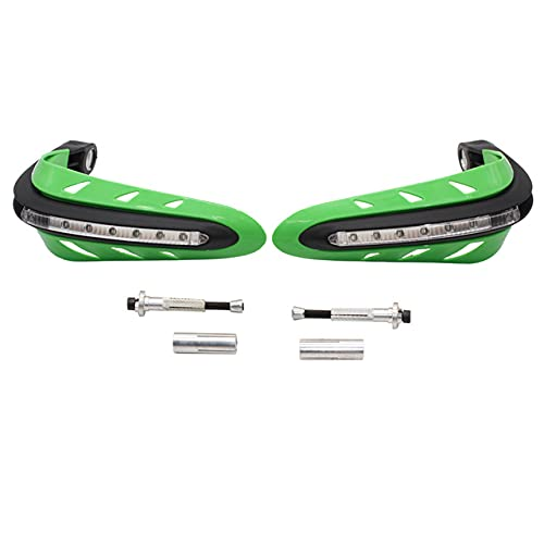 ZHFEN Universal Motorcycle LED Guardias Mano Protector Handarbar LED Ajuste para Dual Road Motorcycle Dirt Bike Scooter Pandguards ATV (Color : Green)
