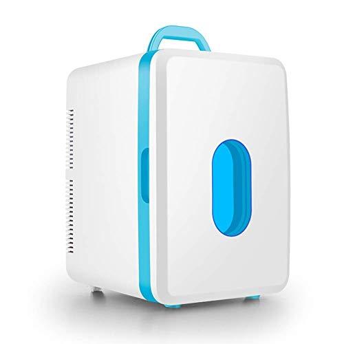 Koelkast auto, Mini koelkast 12v 220v, vriezer Portable Cooler Dual-Use verwarming en koeling Box for auto en Thuis (Maat: 16L-B-blauw frame) LOLDF1