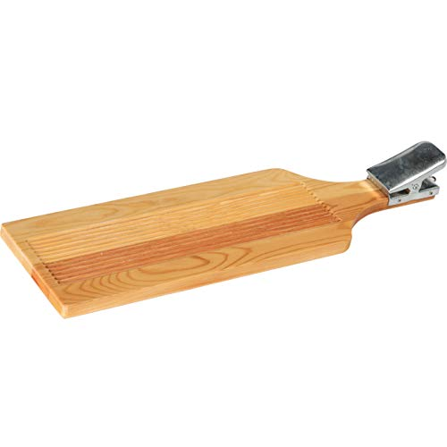 Jaxon großes Filetierbrett aus Holz 60x17,5cm mit extra starker Metallklammer