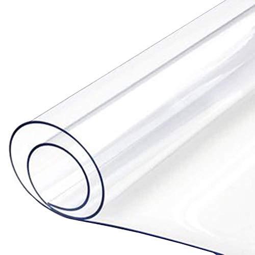 JY & WIN transparant PVC-dekzeil, duurzaam, 350 g, M & Sup2 - transparante, waterdichte afdekking voor balkon, met luifel met rubber (afmetingen: 2 x 4 m; 5 m) 2m×4m