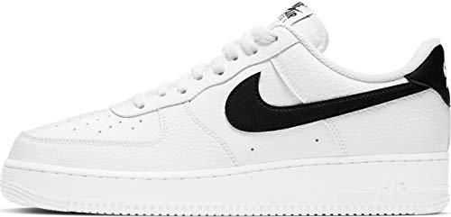Nike Air Force 1 '07, Zapatillas de bsquetbol Hombre, Blanco y Negro, 41 EU