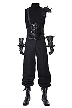 MUCLOTH Final Fantasy VII Remake Cloud Strife Halloween Cosplay Costume Uniform Outfit Suit Dress Jacket Sets  L Male