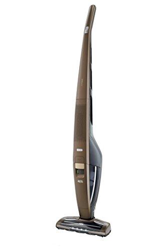 AEG CX8-2-95BM - Aspiradora sin Bolsa, hasta 95 Minutos de autonomía, Soporte Giratorio, Giro de 180°, función de Limpieza de cepillos, Luces LED Frontales de 800 ml, Color Bronce