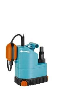 Bomba sumergible 7000 Classic de GARDENA: bomba de aguas limpias, caudal de 7000l/h, interruptor de flotador, silenciosa y sin mantenimiento, múltiples aplicaciones en casa y en el jardín (1780-20)