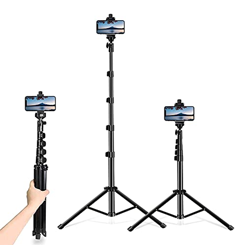 Selfie Stick Tripod, 54 inch Extendable Tripod Stand Phone Tripod Camera Tripod Wireless Remote Shutter Compatible with iPhone 12 11 pro Xs Max Xr,Android/Cameras