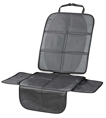 Walser Kindersitzunterlage Protect für PKW Rückbank, Sitzschoner Kindersitz rutschfest und wasserdichte ISOFIX Unterlage 26142