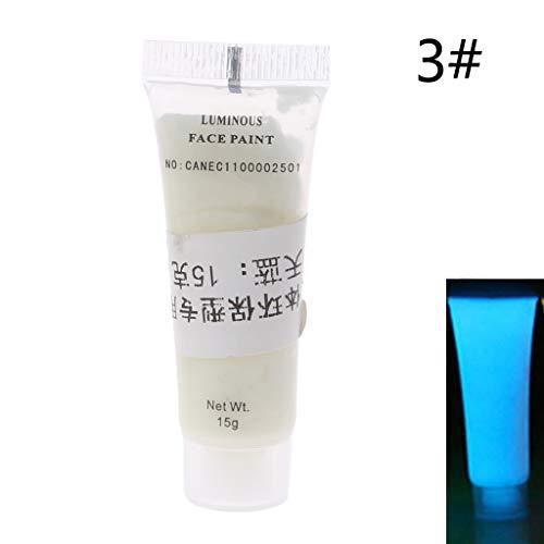 Pigmento líquido luminoso que brilla en la oscuridad, no tóxico, pintura facial talla única 3