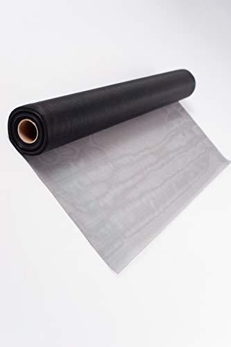 TESO, rete per zanzariere, tessuto in fibra di vetro trasparente, resistente ai raggi UV, articolo a metraggio, colore grigio, 200 cm
