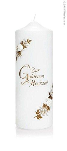 Wiedemann Kerze Zur Goldenen Hochzeit, Wachs, 22 x 8 cm