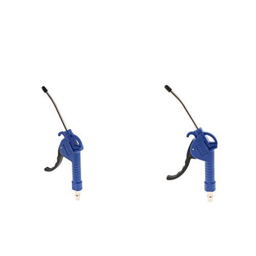 joyMerit 2 Piezas Compresor de Aire Boquillas de de Soplado Conjunto de Soplador de Pulverización de Aguja de Inflado Azul