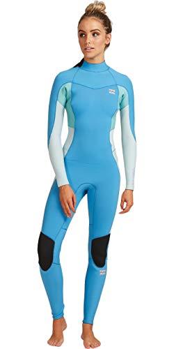 BILLABONG Synergy - Traje de neopreno para mujer (5/3 mm, cremallera trasera), color azul