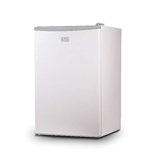 BLACK+DECKER BCRK43W Compact Refrigerator Energy Star Single Door Mini Fridge with Freezer, 4.3 Cubic Ft, White
