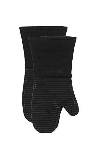 All-Clad Textiles Oven Mitt, 2 Pack, Black, 2 Count