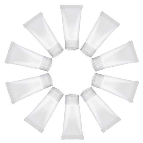 Dmsc 10PCS / Set Reisen Leer Tragbarer 15ml löschen leeren Gesichtsreiniger nachfüllbar Makeup Container Probenflaschen Soft Tube Flasche