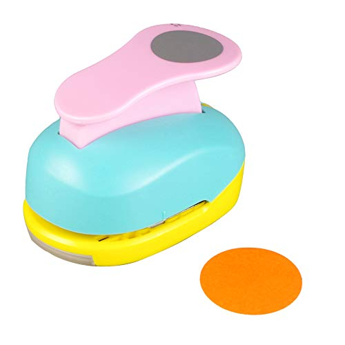 Circle Punch 2 inch Craft Lever Punch Handmade Paper Punch Candy Color by Random 2 inch Circle Punch