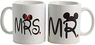 Couples Mug - His and hers coffee mugs - couple mug set - SandboxMugs
