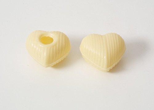 54 Stk. Schokoladenherz Hohlkörper Weiß mit Rezeptvorschlag