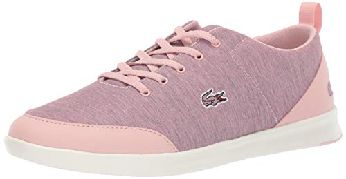 Lacoste Women's Avenir Sneaker, Pink/Off White, 6.5 Medium US