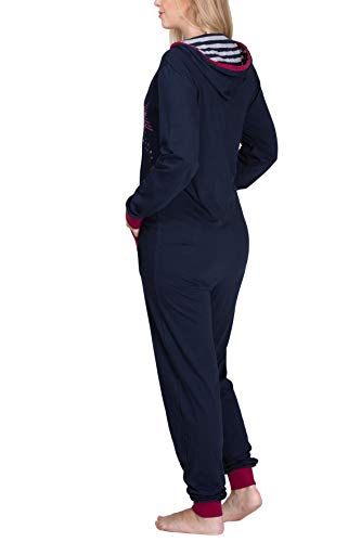 maluuna – Damen Jumpsuit aus 100% Baumwolle, Farbe:anthrazit - 5