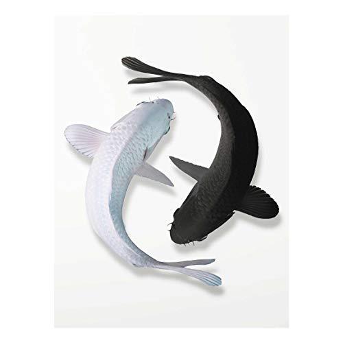 Bilderwelten Cuadro de Cristal - Fish Ying Yang 80x60cm