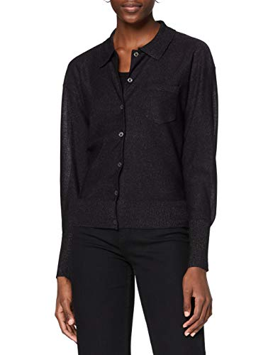 Scotch & Soda Maison Womens Metallic-Garn Cardigan Sweater, 0217 Combo A, L