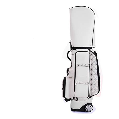 Carry Bag Golf Stand Cart Bag Golf Carry Bag 5 Divisies genoeg om Plaats de gehele set van clubs Pu waterdicht materiaal,White