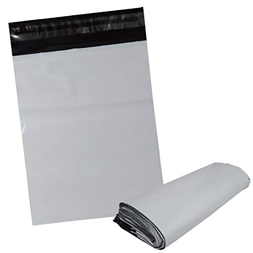 100枚業販価格!宅配用ビニール袋 25cm×18cm対応 シールテープ付き封筒 梱包用資材 クリックポスト ゆうパケット らくらくメルカリ便に 26cm×20cm+フタ4cm 白