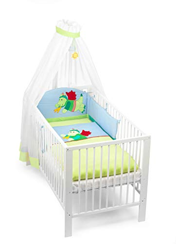 Sterntaler Baby Bettset 3tlg. inkl. Nestchen Bettwäsche + Himmelstoff Motiv Drache Diego 92871