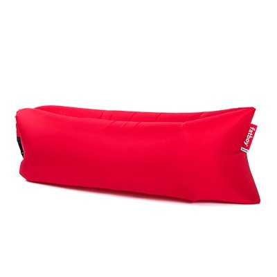 lamzac Fatboy 2.0 Sofá Inflable | Rojo | Sillón Hinchable con Relleno de Aire | Apto para Uso Exterior | 200 x 90 x 50 cm