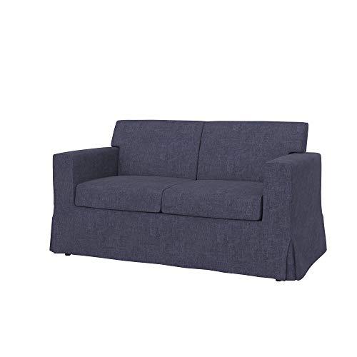 Soferia Funda de Repuesto para IKEA SANDBY sofá de 2 plazas, Tela Softi Denim, Azul