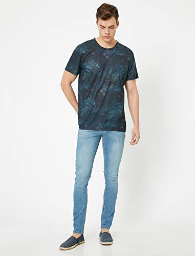 Koton Herren Skinny Jeans, Petrolfarbe, 3732