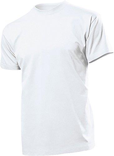 Stedman 2er Pack original Heavy Weight T-Shirts - Größe L, Nr.ST2100 Weiss 2er Pack