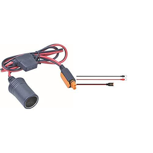 CTEK 56573 Comfort Connect Zigarettenanzünderdose & Comfort Connect Direct Connect Adapter (M6 Muttern), Ideal Für Schwer Erreichbare Batterien, 40cm Kabellänge