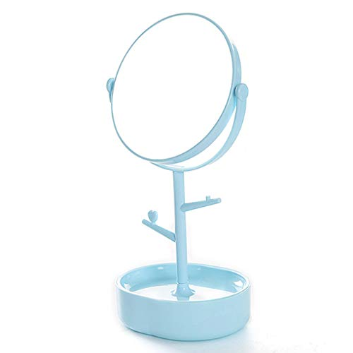 Qinghengyong Mujeres Niñas giratoria Maquillaje Espejo de de Aumento Organizador tocador Soporte...