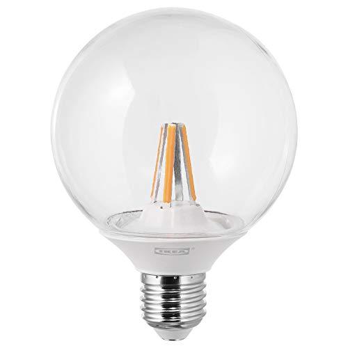 IKEA LEDARE E27 - Bombilla de globo LED regulable de 95 mm, 600 lúmenes, transparente