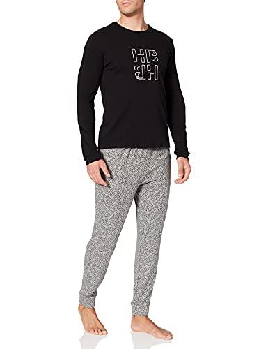 BOSS Relax Long Set Juego de Pijama, Gris Mediano 35, S para Hombre