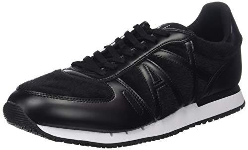 Armani Exchange Herren Low-Top Sneaker, Schwarz (Black 00002), 42 EU