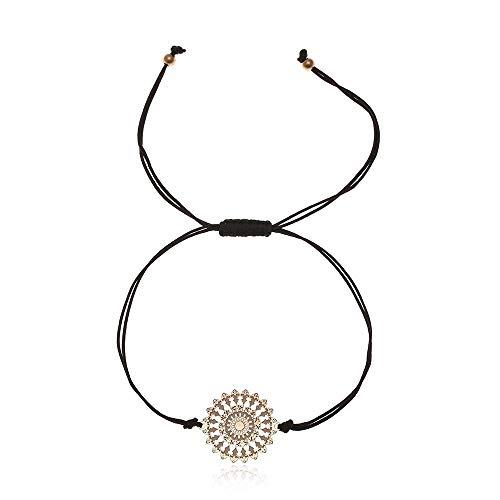Tara Armband Mandala Edelstahl viele Farben Yogaschmuck Fairtrade Farbe Dunkel braun