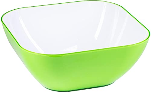 Insalatiera Quadra Verde cm 25.2x25.2Jcj0 - 39435