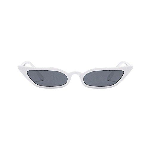 Julhold Gafas de sol polarizadas ligeras unisex gafas de sol vintage ojo de gato gafas de sol retro marco pequeño UV400 gafas de moda decorativas gafas llevar gafas en verano, color Blanco, talla M