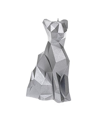 Candellana Candles Candellana-Cat Poly Candle-Silver, Large