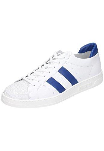 Bikkembergs Bounce 588 L.Shoe M Leather White/Blue, Scarpe Low-Top Uomo
