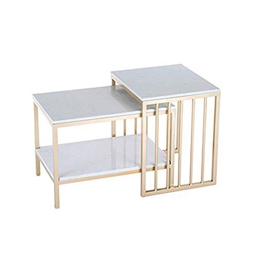 Tavolini tavolini Estraibili Tavolini da Salotto Top in Marmo Mobili Moderni Decor Tavolino Tavolo Rettangolare in Stile per Soggiorno Casa e Ufficio Set di 2, Oro L