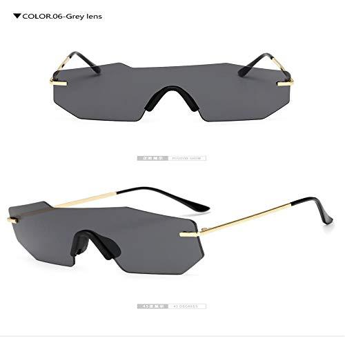 Sonnenbrille Herren Fashion Shield Rose Gold Sonnenbrille Frauen Shades Vintage Brillen Männer Frau Greylens
