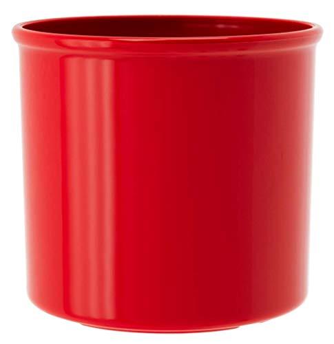 Leni P 0154-6 Corona-Maceta (13/12, diámetro de 14,5 cm x 13 cm), Color, Brillo Rojo carmín