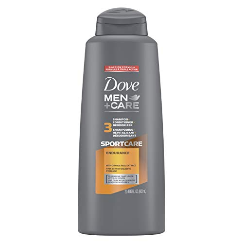 Dove Men+Care SportCare 3 in 1 Shampoo for Men's Hair Endurance+Comfort Cleans and Conditions Better Than Regular Shampoo for Men 20.4 oz